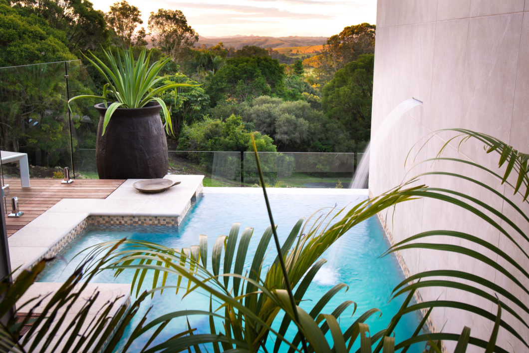 komala-pool-view-outside-private-sundeck-hill-sunset-romantic-atmosphere-gaia-retreat-spa-australia