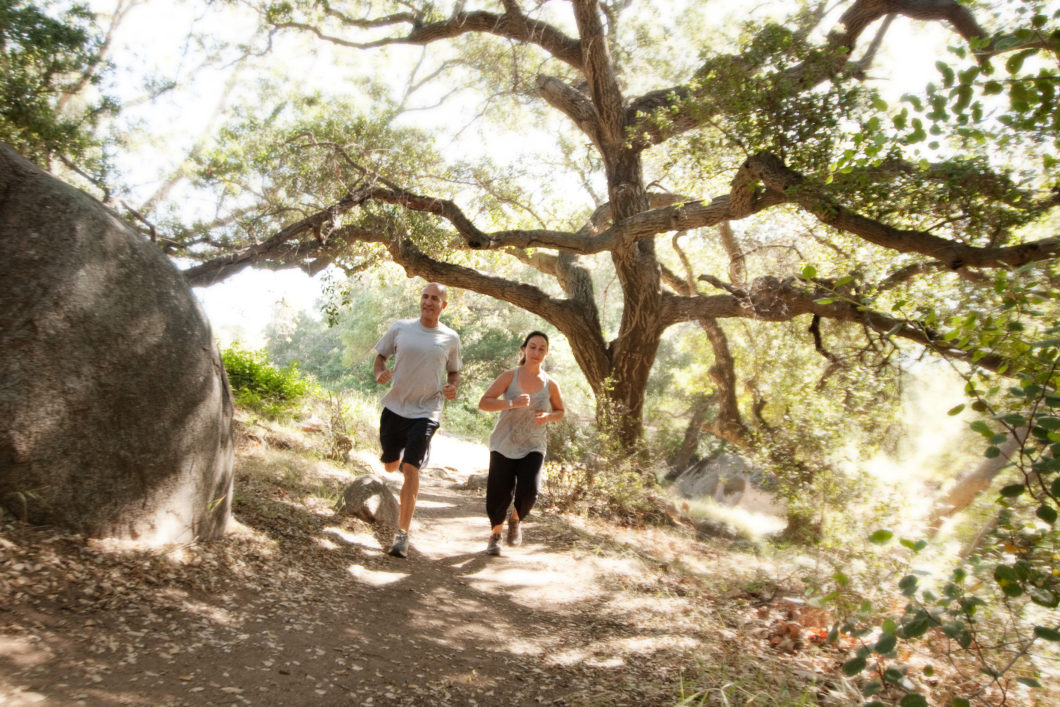 sports-running-activities-couple-forest-rancho-la-puerta-mexico-fitness-resort-spa-hotel