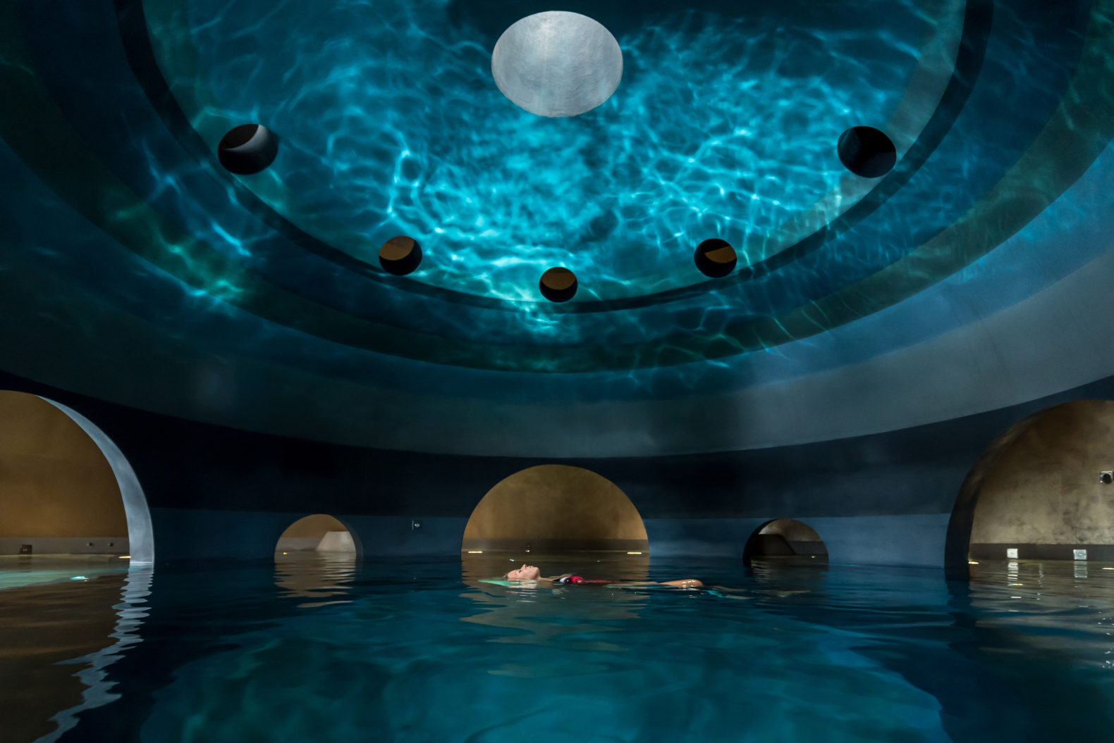 indoor-floating-pool-light-swimming-healing-experience-euphoria-retreat-greece