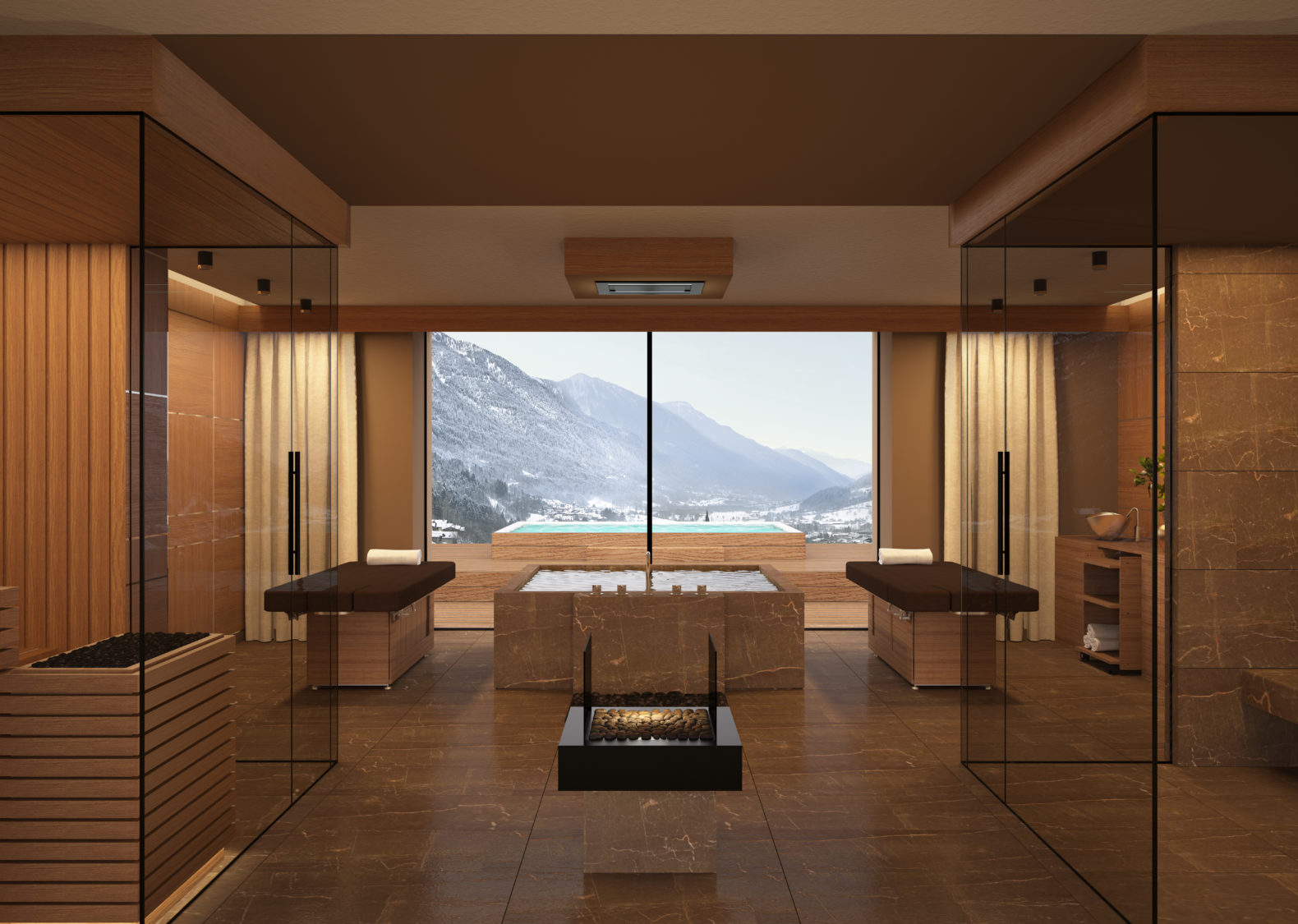 royal-suite-spa-massage-treatment-hottub-mountain-pool-view-lefay-resorts-dolomiti-italy