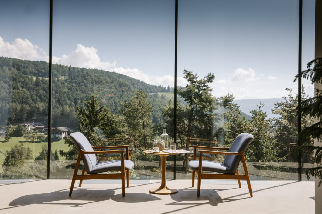 coffee-break-tea-time-view-forest-eco-hotel-saltus-south-tyrol-italy